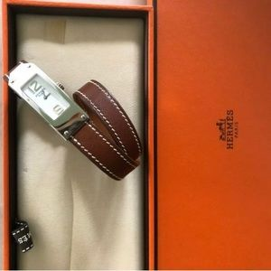 HERMES Kelly 2 Double Tour Women's Leather Watch